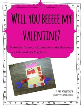 Make Your Own Valentine's Day Robot Bag