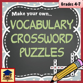 Create your own crossword teaching resources teachers pay teachers make your own vocabulary crosswords make your own vocabulary crosswords ccuart Image collections