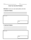 Make Your Own Word Problems