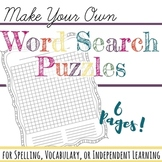 Make Your Own Word Search with ANY Word List