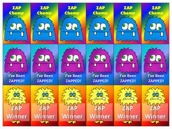 Make Your Own ZAP! Game (Editable) Monster Theme