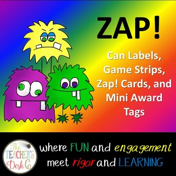 Make Your Own ZAP! Game (Editable) Monster Theme