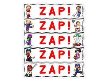 Make Your Own ZAP! Game (Editable) Sports Theme