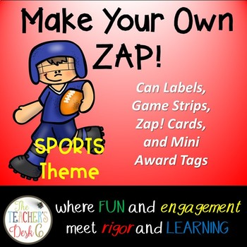 Make Your Own ZAP! Game (Editable) Sports Theme