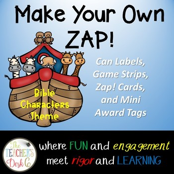Make Your Own ZAP! Game (editable) Bible Character Theme