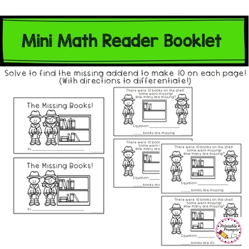 Make a 10 Mini Book Reader, Game, Posters, and Practice