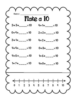 Make a 10 Using 3 addends