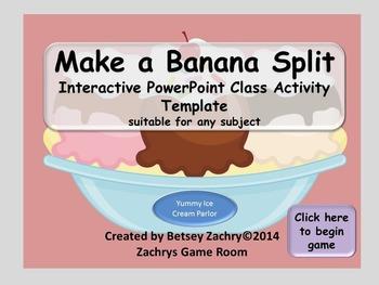 Make a Banana Split Interactive PowerPoint Classroom Activity Template