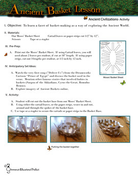 Make a Basket Like the Ancient Civilizations - Lesson with Basket Base