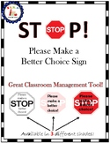 Make a Better Choice Sign! (Classroom Management)