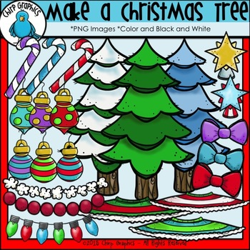 Make a Christmas Tree Clip Art Set - Chirp Graphics