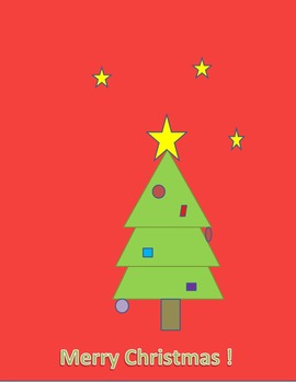 Make a Christmas Tree Using Shapes in Microsoft Word - Simple Geometry