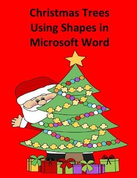 Make a Christmas Tree Using Shapes in Microsoft Word - Sim