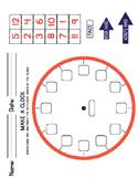 Make a Clock and Time Worksheets FREEBIE