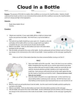Make a Cloud in a Bottle Lab!