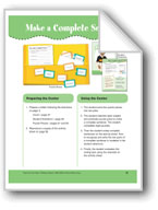 Make a Complete Sentence (File Folder Center)