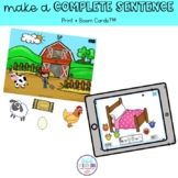Make a Complete Sentence [Print + Boom Cards™]