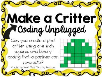 Make a Critter ~ Coding Unplugged Challenge ~ STEM