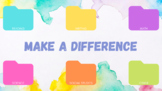 Make a Difference Watercolor Rainbow Computer Desktop Wall