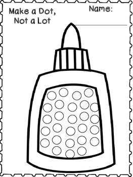 Make a Dot, Not a Lot {FREEBIE}