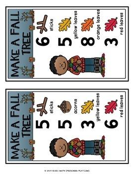 Make a Fall Tree Playdough Activity Cards