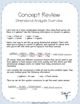 Unit Conversions and Dimensional Analysis