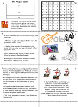 Make a Fun Facts / Activity Book about Spain - Castilian Spanish