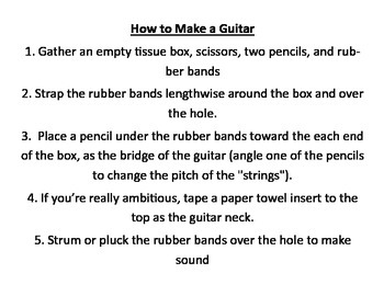 Make a Guitar to Learn about Pitch