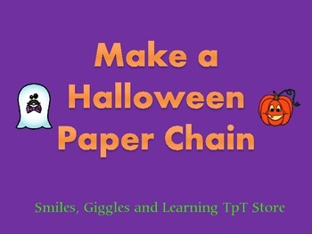 Make a Halloween Paper Chain