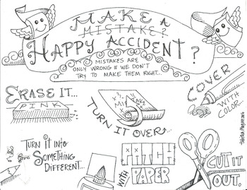 Make a Happy Accident color sheet