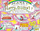 Make a Happy Accident colored poster