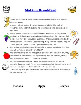 Make a Healthy Breakfast Fun, Interactive Group Activity