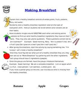 Make a Healthy Breakfast Fun, Interactive Group Activity