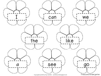 Make a High Frequency Word Lei