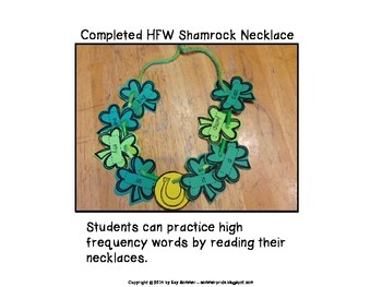 Make a High Frequency Word Shamrock Necklace {Dolch}