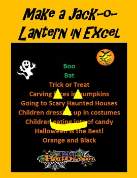 Make a Jack-o-Lantern in Microsoft Excel for Halloween