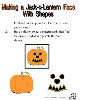 Make a Jackolantern Face with Shapes