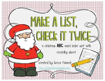 make a list check it twice christmas abc order by foxwell forest
