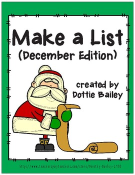 Make a List - December Edition