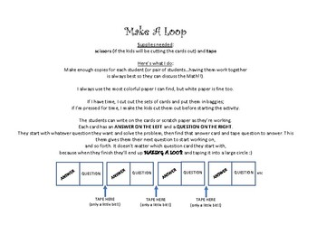 Make a Loop: Proportionality