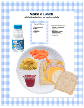 Make a Lunch: A Following Directions Work Station