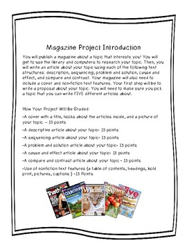 Make a Magazine with Text Structure