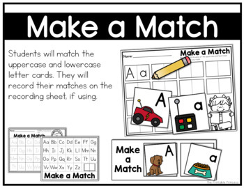 Make a Match  {Alphabet Activities to Teach Letter Recognition}