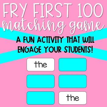 Make a Match Fry First 100 Words