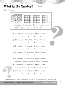Make a Match (Place Value to 10,000, Expanded Notation)