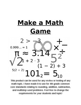 Make a Math Game (editable)