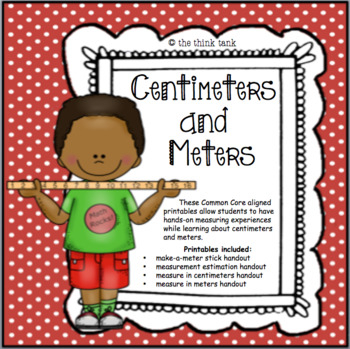 photo about Printable Meter Sticks named Centimeters And Meters Worksheets Education Elements TpT