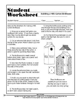 Make a Milk Carton Bird house