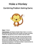 Make a Monkey Combining Word Problems 1 digit + 1 digit addition Game