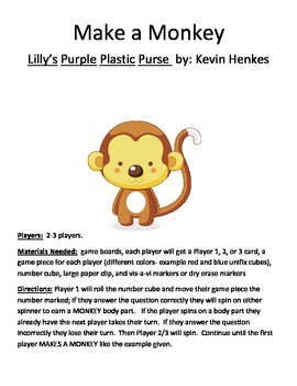 Make a Monkey Lilly's Purple Plastic Purse by Kevin Henkes